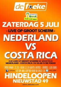 Nederland - Costa Rica - WK 2014 - De Foeke - Hindeloopen