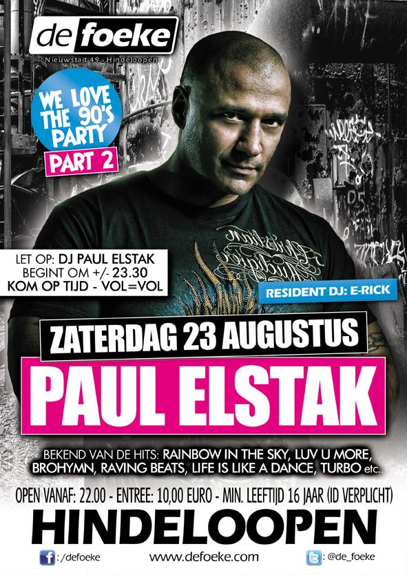Paul Elstak - De Foeke - Hindeloopen - Zaterdag 23 Augustus