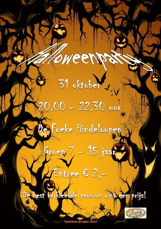 Vrijdag 31 Oktober Halloween Party - De Foeke - Hindeloopen