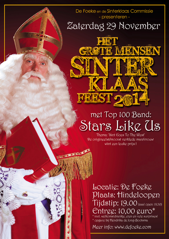 Zaterdag 29 November - Sint Goes To The West - De Foeke - Hindeloopen