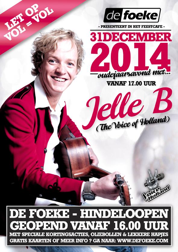 Woensdag 31 December - Oudejaarsavond met Jelle B - De Foeke - Hindeloopen
