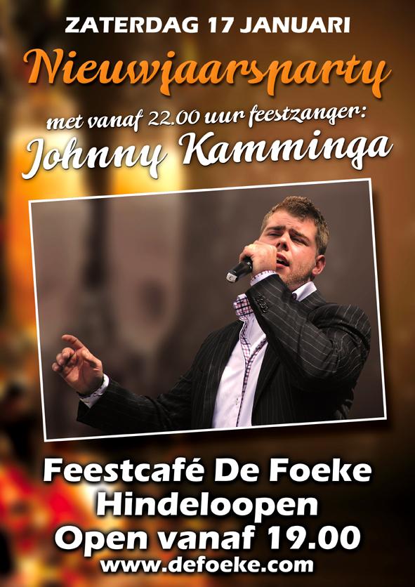 Zaterdag 17 Januari - Nieuwjaarsparty met johnny Kamminga - De Foeke - Hindeloopen