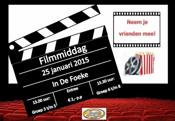 Zondag 25 Januari - Filmmiddag - De Foeke - Hindeloopen