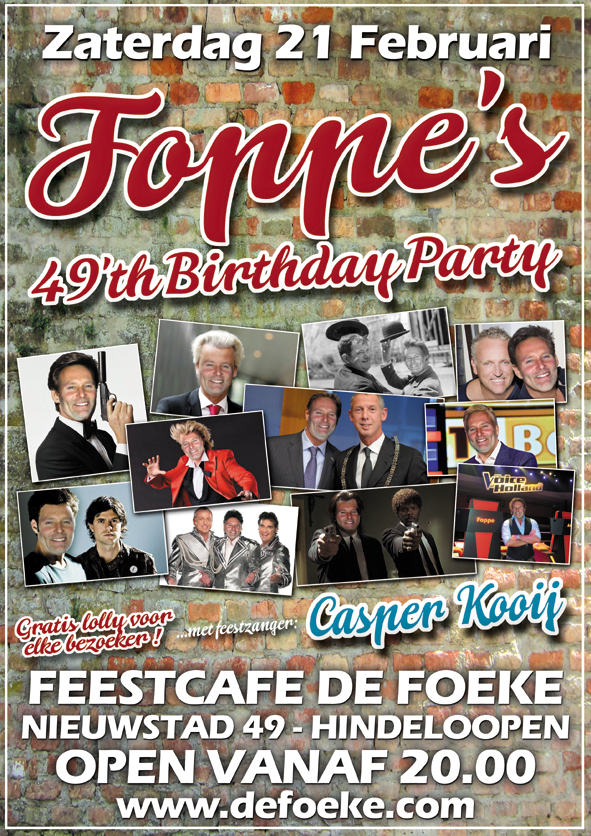 Zaterdag 21 Februari - Foppe's 49th Birthday Party - De Foeke - Hindeloopen