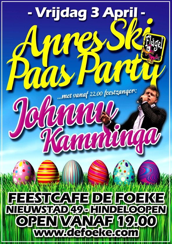 Vrijdag 3 April: Apresski Flugel Paas Party