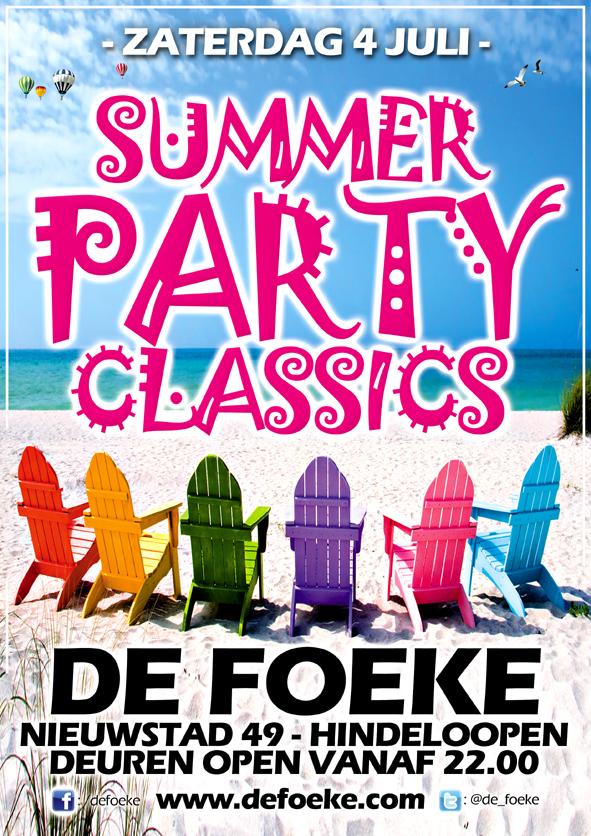 Zaterdag 4 Juli - Summer Party Classics - De Foeke - Hindeloopen