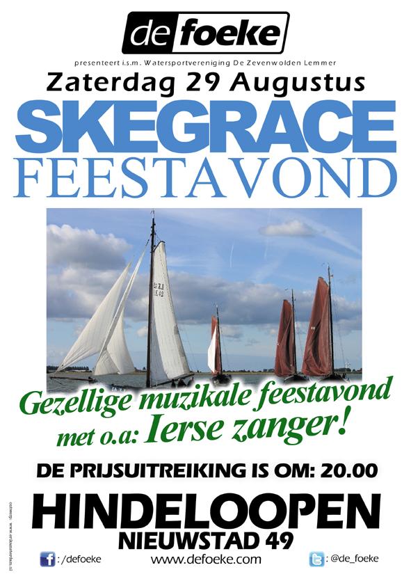 Zaterdag 29 Augustus: Skegrace Feestavond